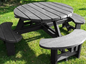 Grey Plastic Excalibur Picnic Table