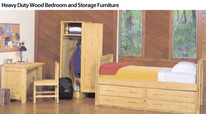 Heavy Duty Wood Bedroom and Storage Furniture