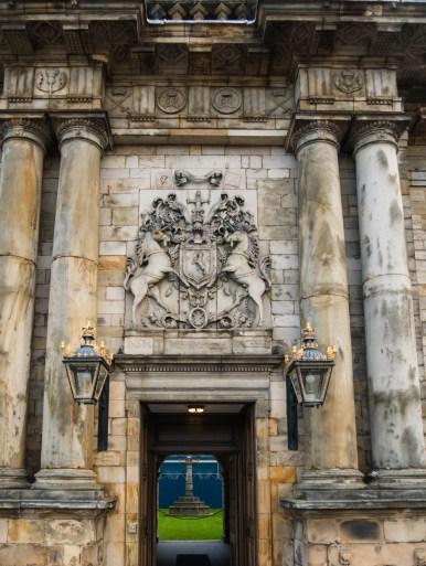 Entrée de Holyrood palace