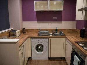 Cuisine de l'appartement de Glasgow