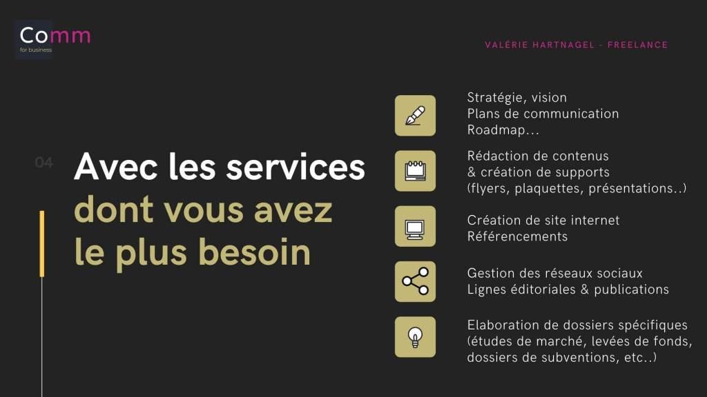 Les services dont vous avez le plus besoin