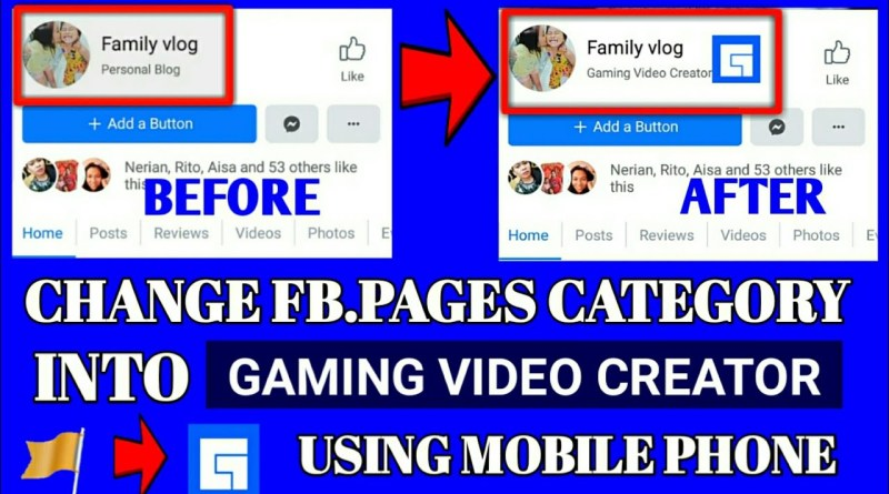 How to Change Facebook pages Category into Gaming video creator