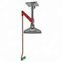 Emergency Shower, Ceiling Mount, Plastic, 2 3/4 in x 2 in Head Dia. - Available in(Drench Shower, Drench Shower and Eyewash, Emergency Shower, Shower with Eye/Face, Wash-Eye Wash and Shower Mounting Ceiling, Floor, Recessed, Wall-Pipe Material Galvanized Steel, Plastic, Stainless Steel-Head Dia. 2 3/4 in x 2 in -11 in)