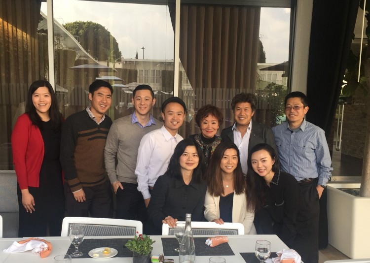 From left to right (back row): LMP mentees Leslie Toy, Will Mak, Kevin Tsai, Steven Liang, C100 member and LMP mentor Lily Lee Chen, C100 member Donald Tang and LMP mentee John Zhou (Front row): LMP mentees Nina Hong, Andrea Maeng, and C100 regional staff, Maxine Hu