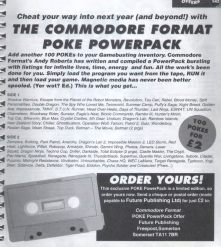 The back of the diary offered readers 100 of Andy Roberts' famous cheats for just two quid! No more data errors for you thanks to the CF Poke Powerpack!