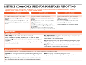 Get commonly used metrics for a complete portfolio measurement system.