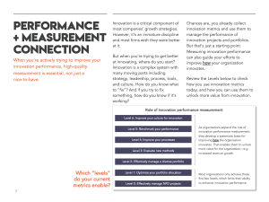 Use innovation metrics for more than just management of innovation projects and portfolios.