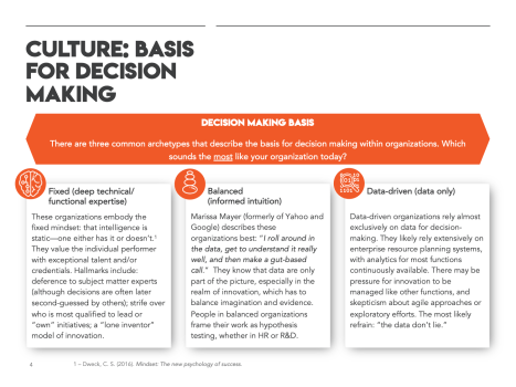 There are three common archetypes that describe the basis for decision making within organizations.
