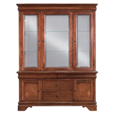 Kincaid Chateau Royal China Cabinet In Rich Clear Brown (KCD1514)