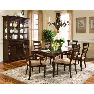 southern living gresham park 7 piece rectangular dining set in raisin