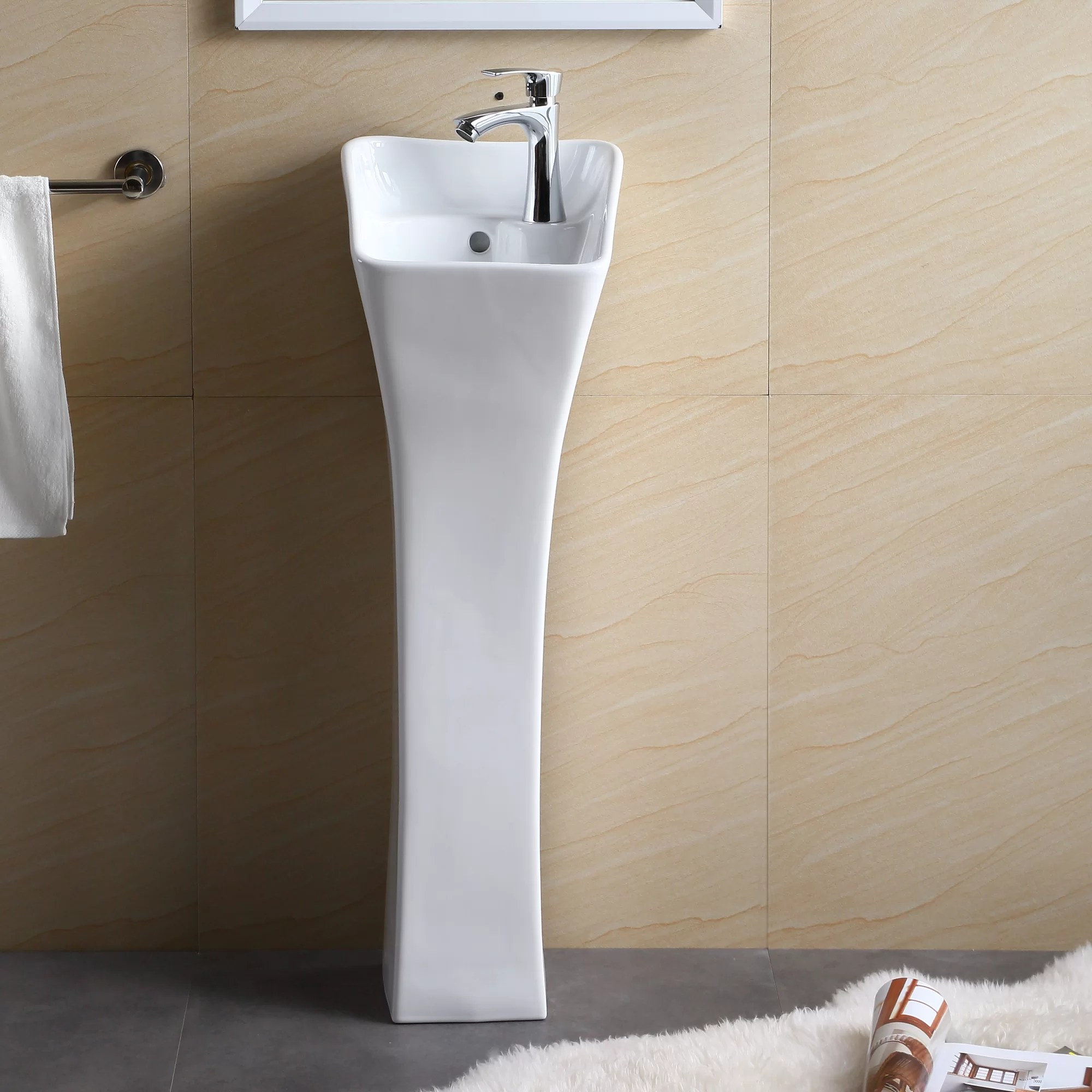 Fine Fixtures Pedestal Series 13 Bathroom Sink
