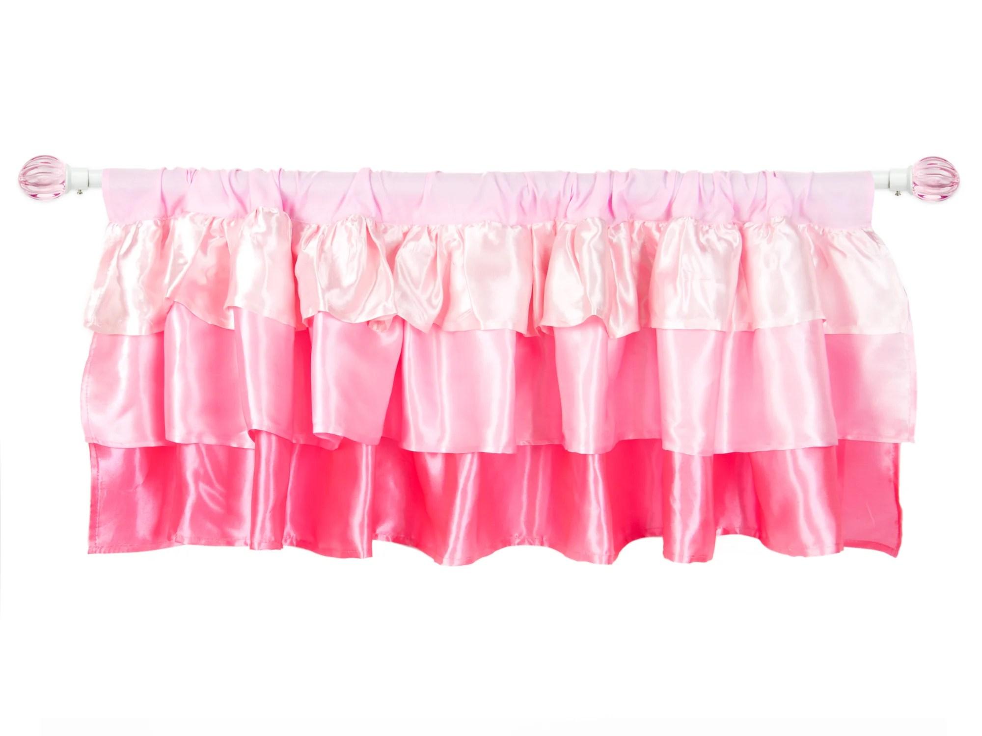 Tadpoles Ruffled Satin 60 Curtain Valance