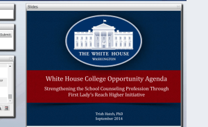 The group responsible for the movement to require school counselors to undergo 'non negotiable' CCR training?? The White House's plan..not the people's idea.