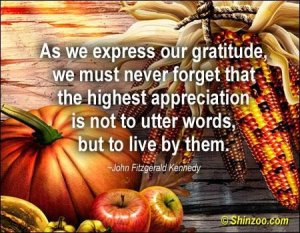 May our gratitude be overflowing that we are with our families.