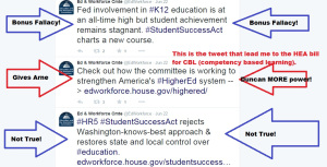 A triple whammy of hype for us from the U.S. Education and Workforce Committee.