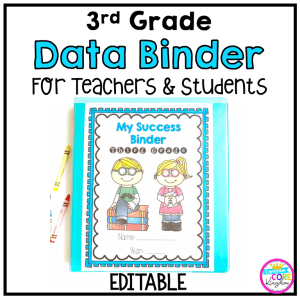 Image of a 3rd Grade Data Binder for Teachers and Students with title reading My Success Binder