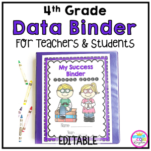 Image showing My Success Binder for 4th grade with clickable link to Teachers pay Teachers