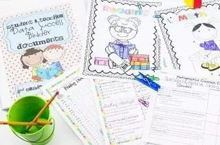 Pages from Student Data Binders product available on Teachers pay Teachers