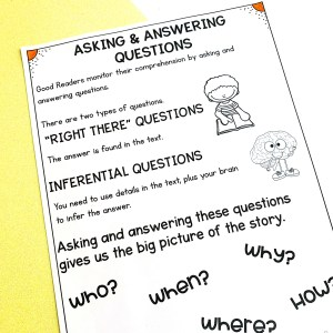 Asking & Answering Questions Worksheet