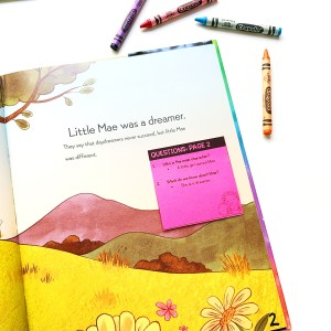 Picture of Ask and answer questions in literature Standard sticky note in Mae Among the Stars book
