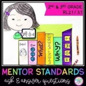 Ask & Answer Questions Mentor Texts - 2nd Grade RL.2.1 & 3rd Grade RL.3.1