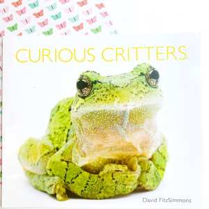 Image showing the cover of a mentor text called Curious Critters with an image of a large green frog