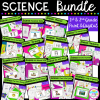 1st & 2nd grade science unit cover showing different digital and printable education resources