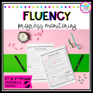Cover for 2nd and 3rd grade reading fluency unit for 2nd and 3rd grade