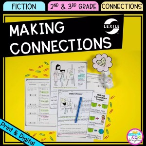 Making Connections cover for 2nd and 3rd grade showing printable and digital worksheets