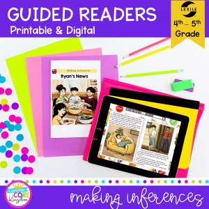 Making Inferences in Fiction Guided readers cover for 4th and 5th grade