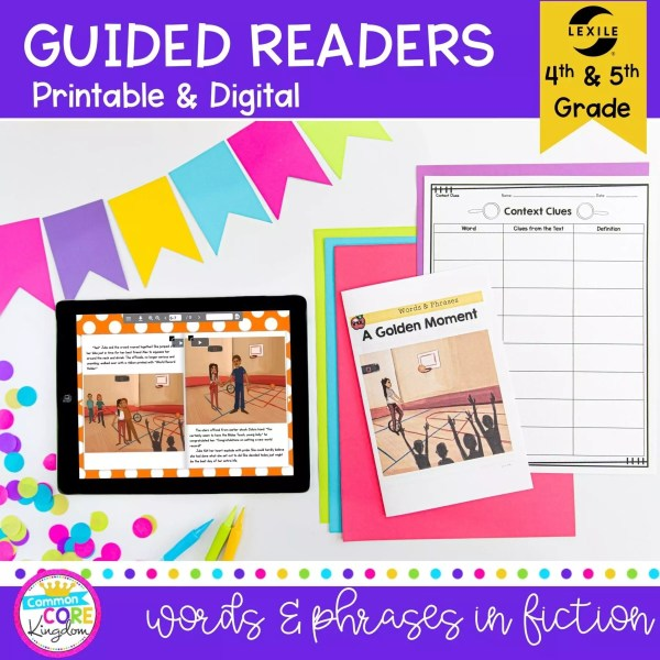 4th and 5th grade guided readers showing digital and printable passages