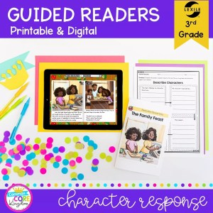 Guided Readers 3rd Grade Describe Characters guided reader cover showing printable and digital reading resources