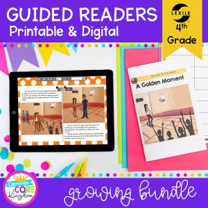 Guided Reading 4th Grade Bundle - Printable & Digital Distance Learning