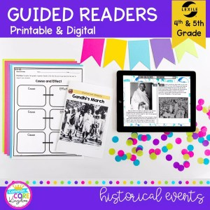Historical Events Guided Reader cover for 4th & 5th grade RI.4.3 and RI.5.3