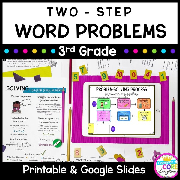 Two Step Word Problems 3rd Grade Math