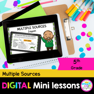 RI 5.7 Multiple Sources Digital Lesson for 5th Grade in Google & Seesaw Format