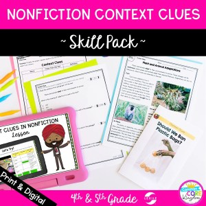 Context Clues Skill Pack for 4th 5th grade