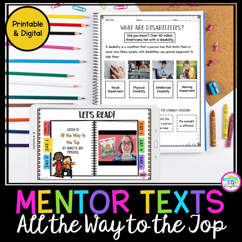 All the Way to the Top Mentor Text Unit