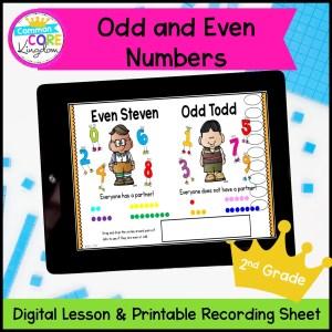 Odd & Even Numbers Digital Mini Lesson in Google Slides
