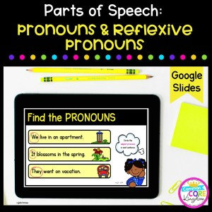 Pronouns & Reflexive Pronouns Digital Activities in Google Slides Format