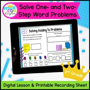 One & Two Step Word Problems Digital Mini Lesson in Google Slides