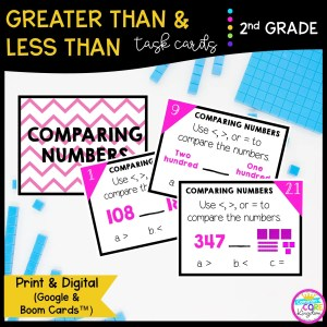 Comparing Numbers Task Crds for 2nd Grade 2.NBT.A.4