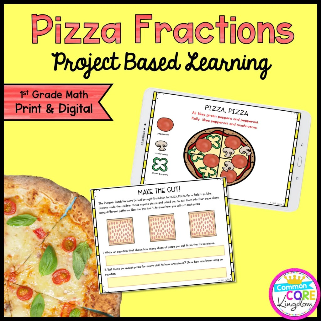 Pizza Fraction Project Learning for 1st Grade