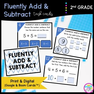 Fluently Add & Subtract in Google Slides & Boom Task Cards Format