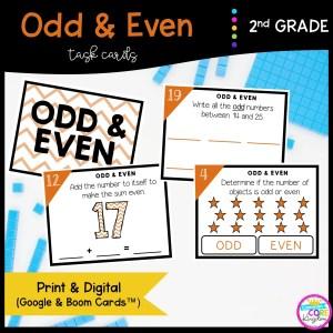 Odd & Even Numbers in Google Slides & Boom Task Cards Format