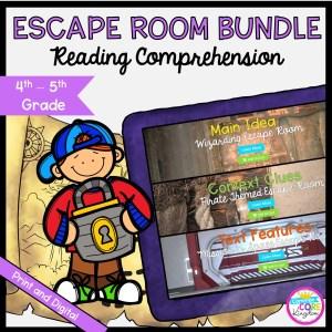 Reading Comprehension Escape Room Bundle for 4th & 5th Grade