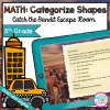 Catch the Bandit Geometry Escape Room for 5th Grade in Google Slides & Printable Format