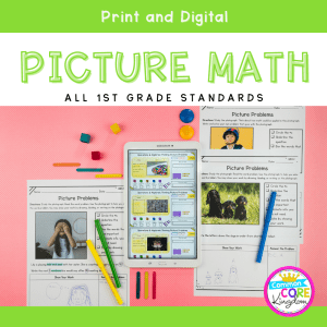 1st Grade Math Picture Problems in Google Slides & Printable Format