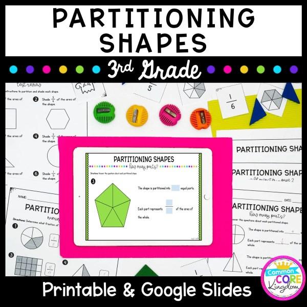 Partitioning Shapes Unit for Google Slides Distance Learning 3.GA.2