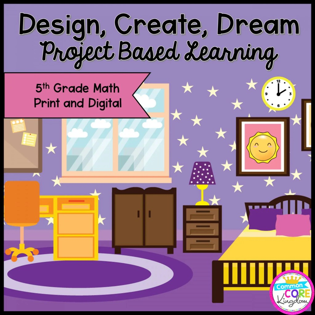 Design, Create, Dream! Project Based Learning for 5th Grade in Printable & Google Slides Format